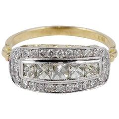 Edwardian 1.60 Carat French Cut Diamond Anniversary Ring