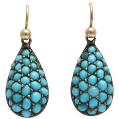 Persian Turquoise Victorian Drop Earrings