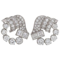 1950s Diamond and Platinum Earrings