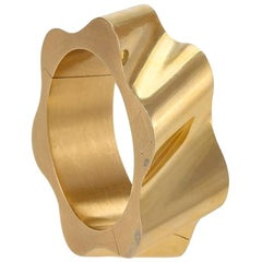 French Modernist Gold Cuff Bracelet or Watch