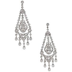 Art Deco Diamond and Platinum Earrings