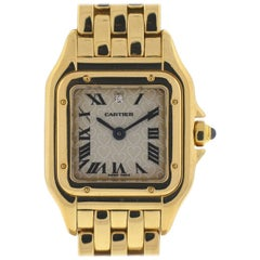 Cartier Ladies Yellow Gold Panthere Love Heart Dial Quartz Wristwatch