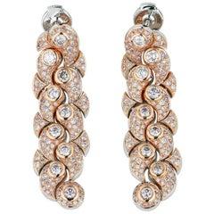 Rose Gold Pink Diamond Earrings