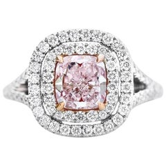 GIA Fancy Light Pink Diamond Ring