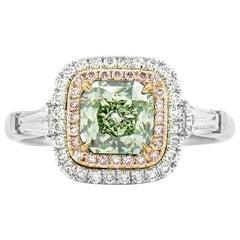 Fancy Yellow Green Diamond Ring