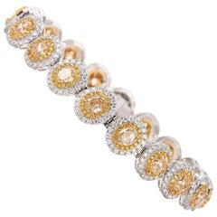 Oval Cut Fancy Yellow Diamond Bracelet