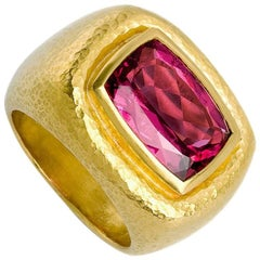 Certified 6.2 Carat Rubelite Ring