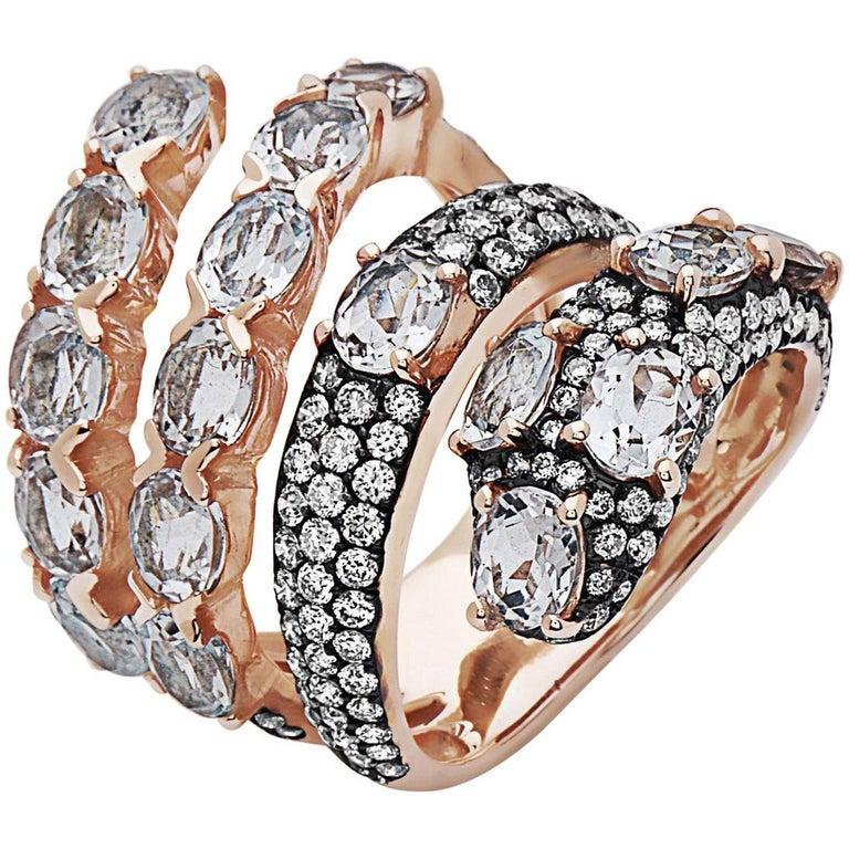 Emilio Jewelry Snake Fashion Diamond Ring For Sale