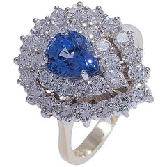 Classic Sapphire and Diamond Cocktail Ring