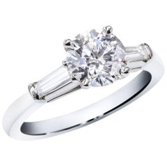 GIA Certified 1.25 Carat Round Brilliant Diamond Engagement Ring