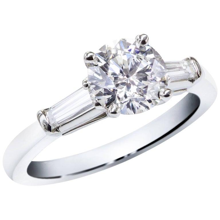 GIA Certified 1.25 Carat Round Brilliant Diamond Engagement Ring
