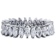 Marquis Cut Diamond Eternity Band