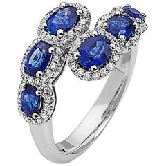 Emilio Jewelry Sapphire Diamond Ring