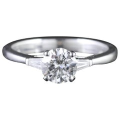 Art Deco Platinum Diamond Engagement Ring, circa 1920