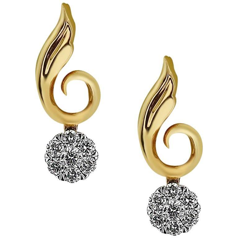 Rose Gold Petit Diamond Earrings