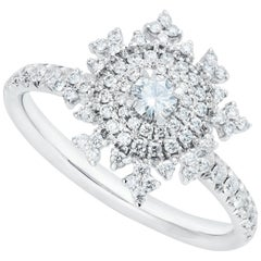 Nadine Aysoy Petite Tsarina 18 Karat White Gold and Diamond Engagement Ring