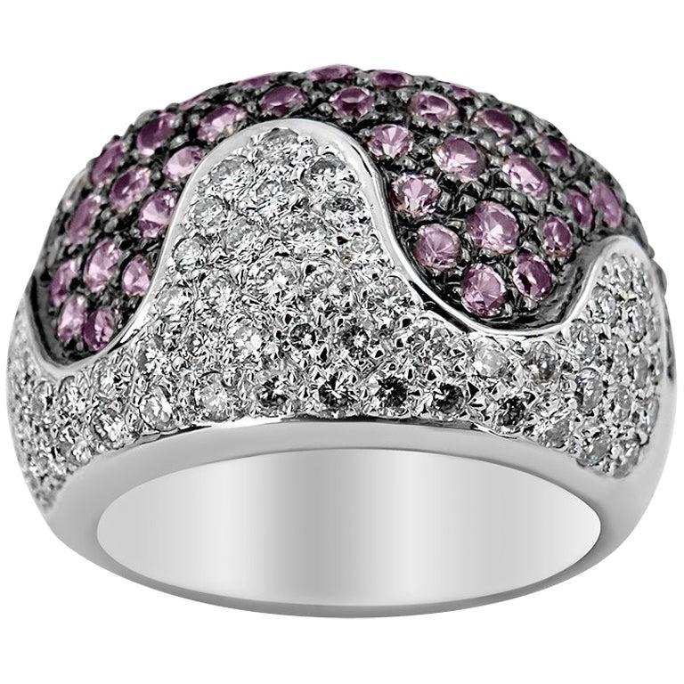 White Gold Tourmaline and Diamond Ring