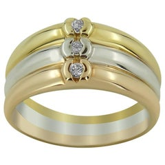 Three-Tone Diamond Ring