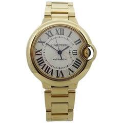Cartier Yellow Gold Ballon Bleu Automatic Wristwatch Ref WGBB005