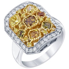 2.26 Carat Fancy Colored Diamond Cocktail Ring