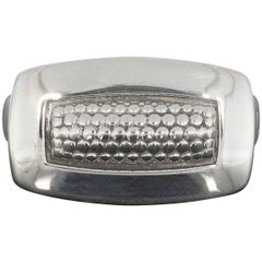 Lagos Sterling Silver Imagine Rectangle Caviar Band Ring