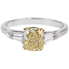 Cushla Whiting 1.59 Carat Yellow Cushion Cut Diamond 'Barbara' Engagement Ring