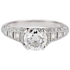 Cushla Whiting 'Esther' 1.11 Carat Old Cut Diamond Platinum Engagement Ring