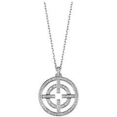 Akillis Licence to Akillis S Pendant 18 Karat White Gold White Diamonds
