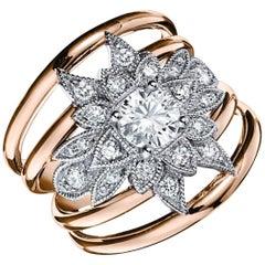 Priscilla 0.56 Carat Flower Diamond Ring Designed by Valerie Danenberg