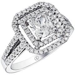 Clarence 0.90 Carat F VS2 Diamond Ring