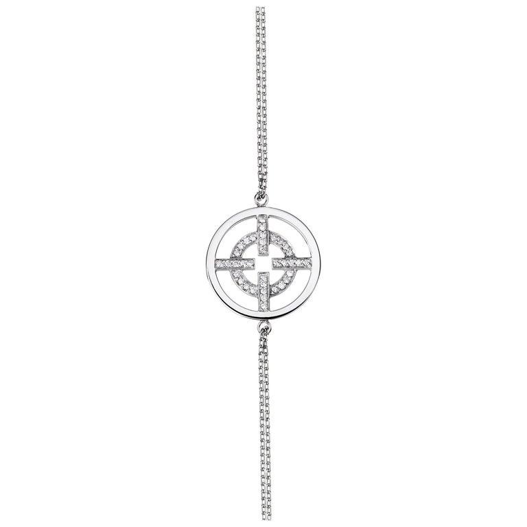 Akillis Licence to Akillis Bracelet 18 Karat White Gold Half Set White Diamonds