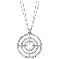 Akillis Licence to Akillis L Pendant 18 Karat White Gold White Diamonds