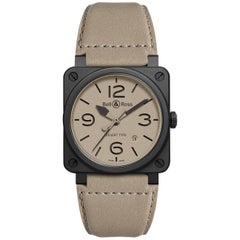 Bell & Ross Ceramic Desert Type Automatic Wristwatch Ref BR 03-92