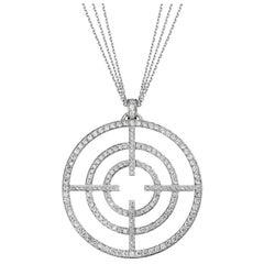Akillis Licence to Akillis Extra Large Pendant 18 Karat Gold White Diamonds