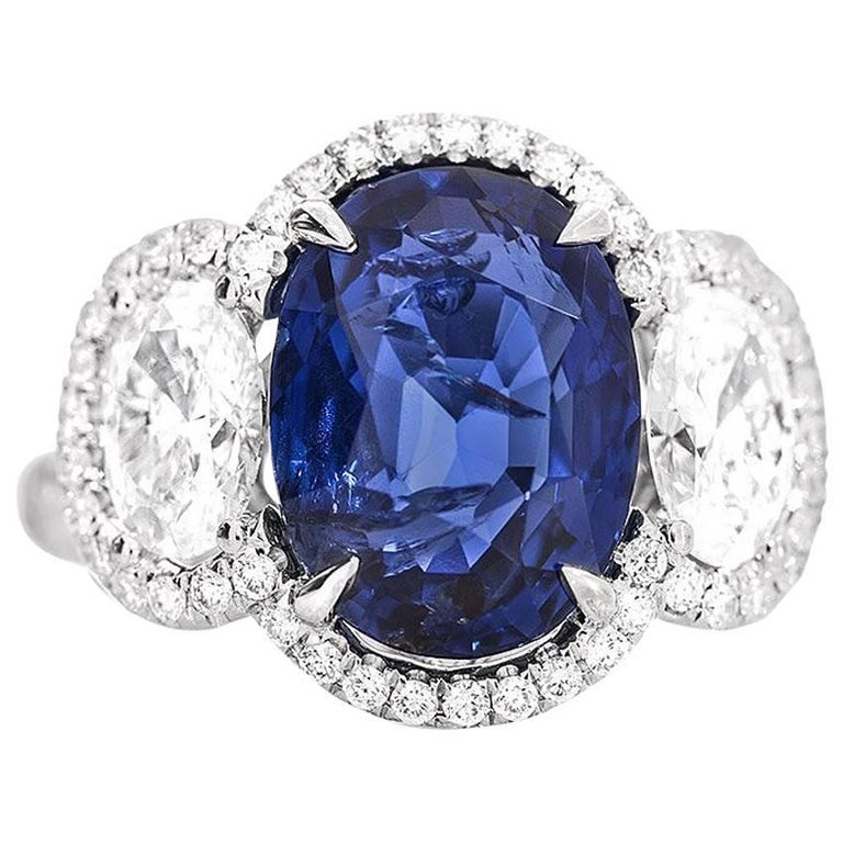 GRS White Gold Sapphire and Diamond Ring