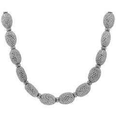 36.35 Carat Total Pave Diamond Necklace