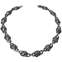 Carl Poul Petersen Handmade Sterling Silver Necklace, Montreal, circa 1940