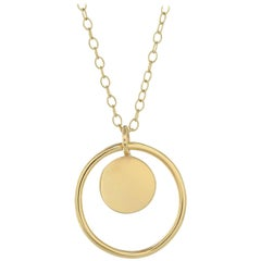 Ellie Air Total Eclipse Gold Disc Necklace