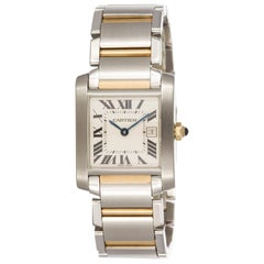 Cartier Yellow Gold Stainless Steel Tank Francaise Wristwatch Ref W51012Q4