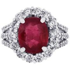 3.02 Carat Ruby Ring