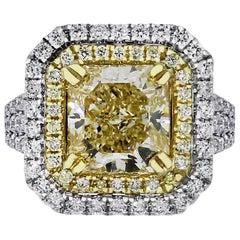 GIA Certified 4.05 Carat Radiant Diamond Ring