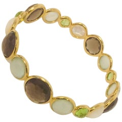 Ippolita 18 Karat Yellow Gold Hero Gelato Bangle Bracelet
