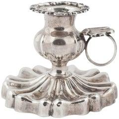 Rare Russian Silver Chamberstick, St. Petersburg, 1844