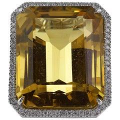 30 Carat Citrine Ring Signed Tiffany & Co.