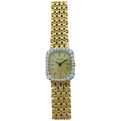 1970s Patek Philippe Diamond Gold Wristwatch