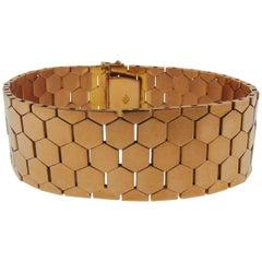 Vintage Rose Gold Honey-Comb Bracelet