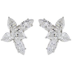 13.06 Carat Fancy Shaped GIA Diamond Earrings