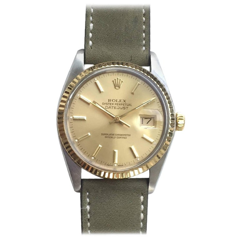Rolex Steel and Gold Oyster Perpetual Datejust Automatic Wristwatch