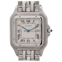 Cartier Stainless Steel Panther Jumbo Quartz Wristwatch, circa 1990s