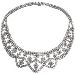 Diamond Platinum Garland Style Necklace